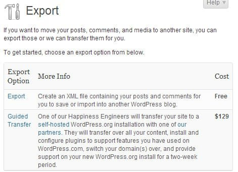 guida trasferire blog da wordpress.com a wordpress.org