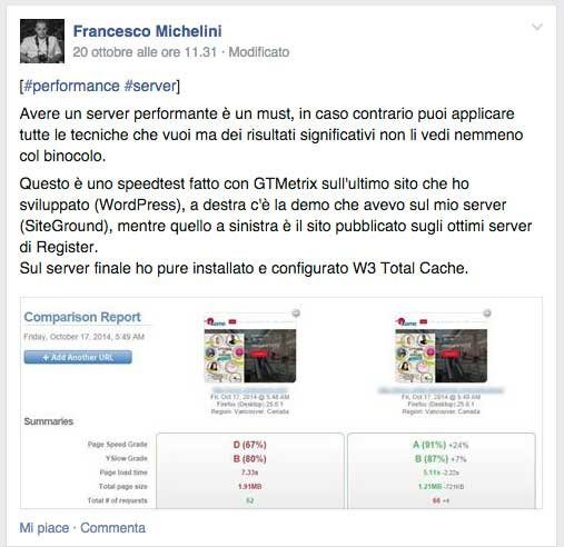 Review best hosting Siteground Francesco Michelini