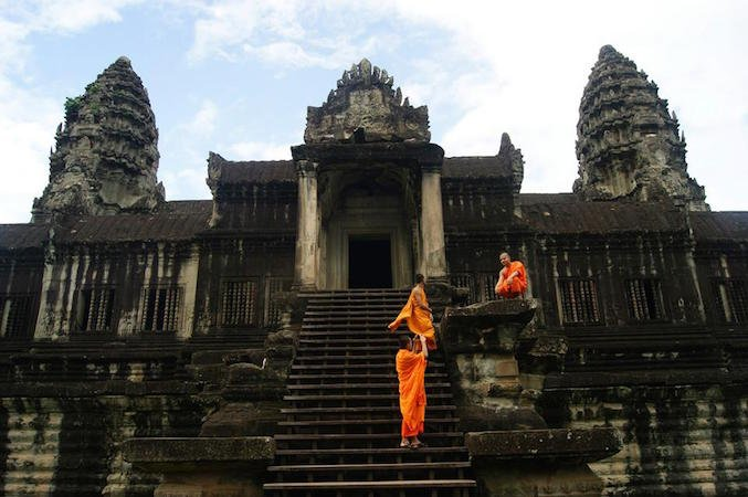 Monaci Buddhisti ad Angkor Watt