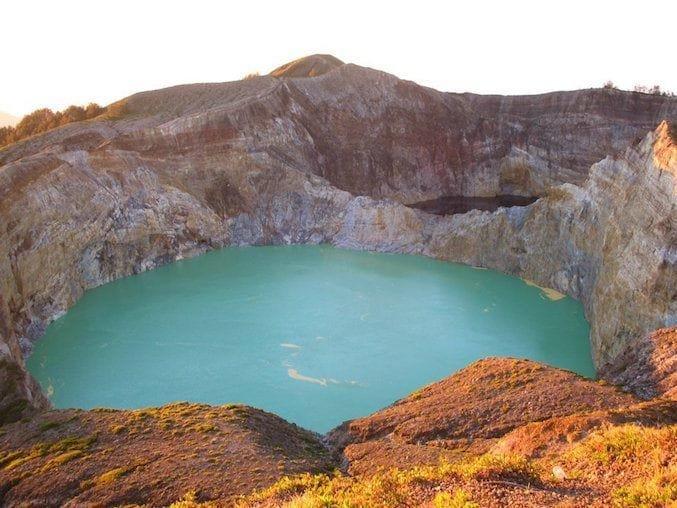 Vulcano Kelimutu a Flores, Indonesia