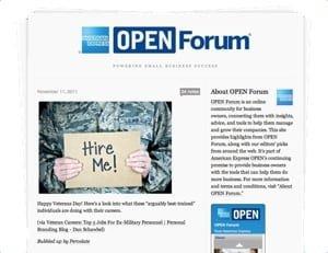 open forum il blog aziendale di american express