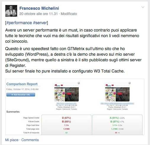 Recensione miglior hosting Siteground di Francesco Michelini