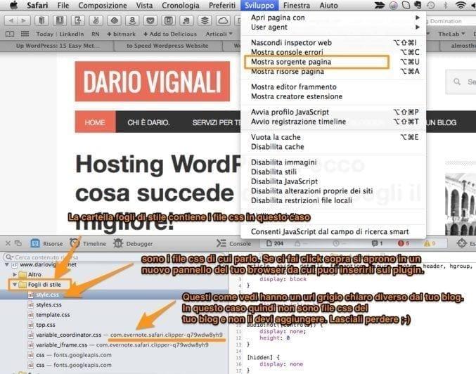 screenshow velocità wordpress dariovignali.net