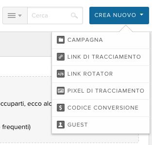 1. Creare un tracking link