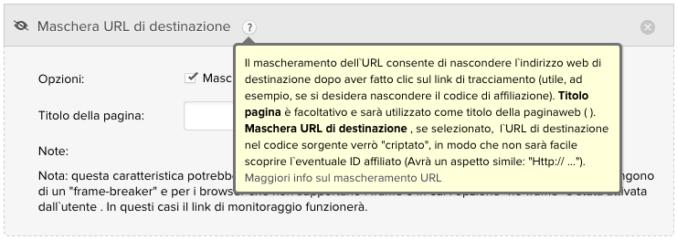 mascherare URL di affiliazione con un tracking link