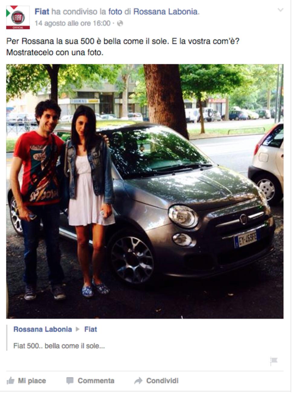 Social Media Marketing Aziendale Fiat
